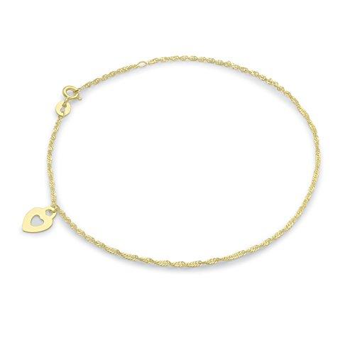 Carissima Gold Damen-Fußkette 9 Karat (375) Gelbgold 24 cm