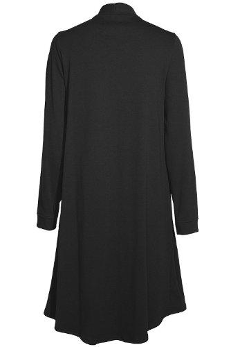 Nanso - Haut de pyjama - Manches Longues - Femme Noir Noir Noir - Black - 1210 schwarz