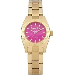 Superdry Womens Ladies Mini Pink Gold Bracelet Watch