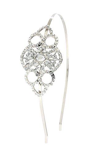 Babeyond Bling Silber Große Gatsby Inspiriert Handgemachtes Art- und Weiseflapper-Stirnband mit KristallRhinestones