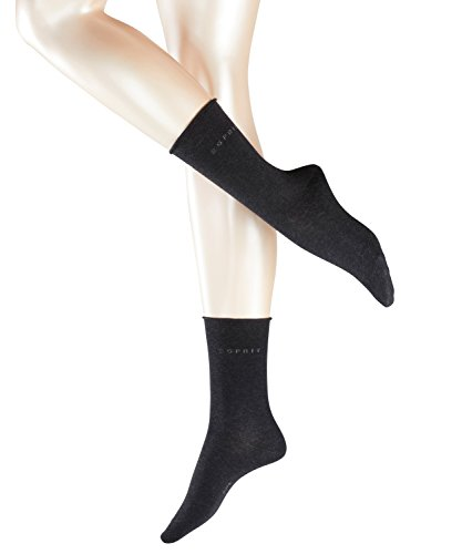 ESPRIT Damen Socken Basic Pure, Grau (Anthrazit Meliert 3080), 35/38