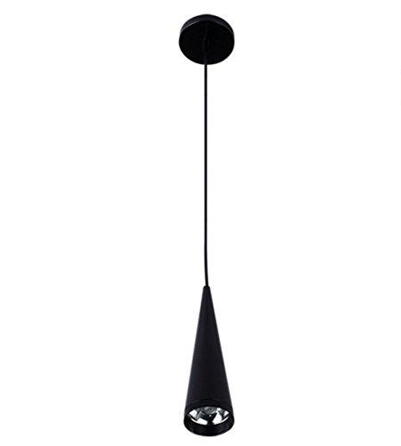 TIANYAO LED Kegel Hängende Lampe an der Wand Befestigte Scheinwerfer-Stab-Kaffee 7W,Black