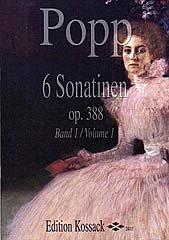 6 SONATINEN OP 388 BD 1 - arrangiert für Querflöte - Klavier [Noten / Sheetmusic] Komponist: POPP WILHELM