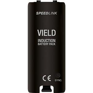Speedlink Vield Wii U Batterie für Induktions-Ladestation (ein Induktions-Akku für Wiimote, bis zu 17 Stunden Spieldauer…