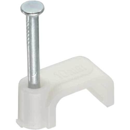 InLine ® Kabelschelle 8mm eckig, weiß, 300 Stück