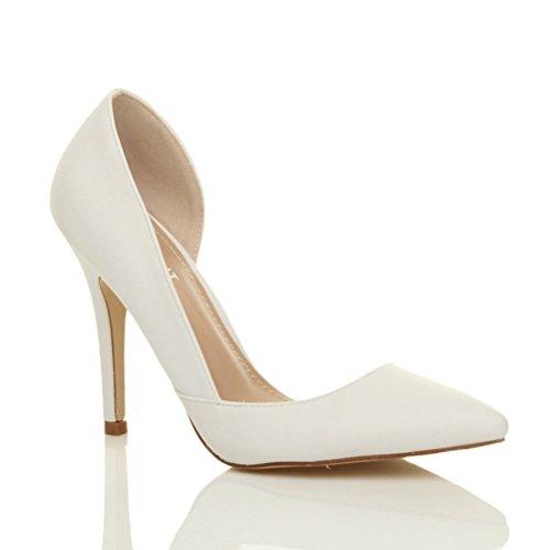 Damen Hoher Absatz Stiletto Spitz Ausschneiden D'orsay Pumps Schuh Größe 4 37 soxYJagF