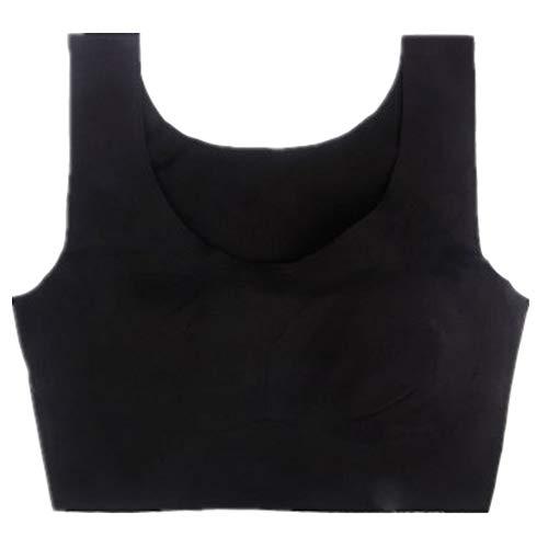 WFDDSD BH Schlaf BH kein Stahlring Sammle Keine Spur Große stoßfeste Weste Yoga Sportunterwäsche schwarz XXL=40BCD