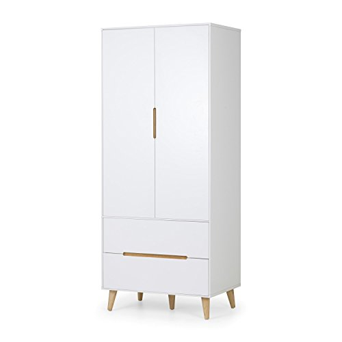 Julian Bowen Alicia 2 Door Wardrobe, One Size Best Price and Cheapest