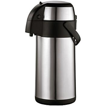 2.2 litres Finitura Satinata Pioneer Flasks Contenitore per Eventi e conferenze pu/ò Contenere Acqua Fredda o Calda per t/è e caff/è Acciaio Inossidabile Thermos in Acciaio Inossidabile