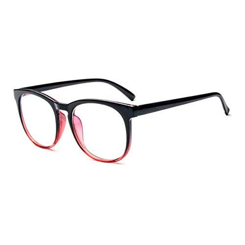 Noradtjcca Vintage-Mode Plain Brillengestell Kurzsichtige Brillengestell Übergroße PC-Rahmen Optische Brillengestell Einfaches Design