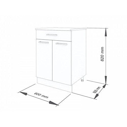 """60 cm Unterschrank für die Küche \""""Martha"""" (2006) (Weiß-lackiert)"""
