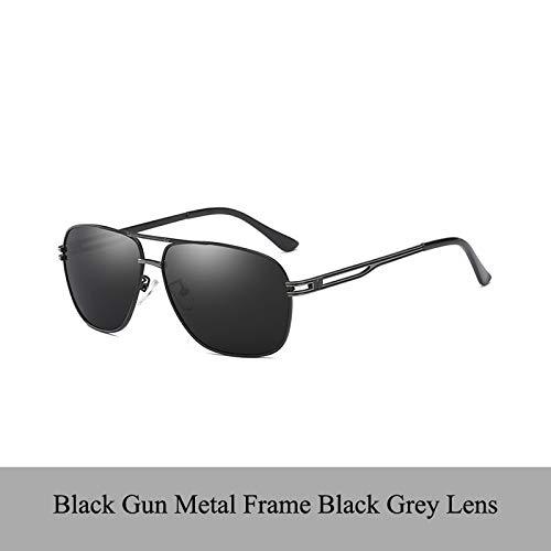 LKVNHP Qualität Fashion Sonnenbrille Männer Designe Brillen Angeln Fahren Sun -Glas -Farbton Oculos Gafas De So BrilleSchwarz Gunmetal -Rahmen