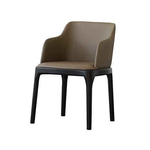 CHANG XU DONG SHOP Modern Accent Armchair Home Minimalist Esszimmerstühle Bürostühle Hocker Kunstleder Rücksitz Stuhl for Wohnzimmer Freizeit Stühle for Schlafzimmer -