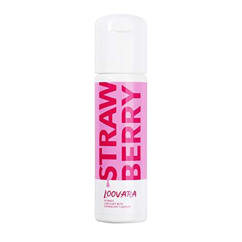 Loovara Gleitgel mit Erdbeergeschmack (100 ml) Gleitmittel auf Wasserbasis mit natürlichem Erdbeere Aroma, vegan