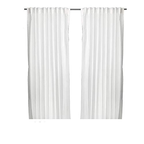 """IKEA Gardinen-Set \""""Vivian\"""" - ZWEI weiße Gardinenschals in 300 x 145 cm mit Tunnelsaum, 2-er pack"""