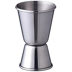 OUNONA Jigger de acero inoxidable Jigger de doble cóctel para la cocina de la casa del restaurante de la barra 15 / 30ml