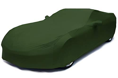 Brauch for Mercedes-Benz 2011-2014 AMG Roadster Convertible Indoor Autoabdeckung Körperschutz,Elastizität Car Cover,Weiche Atmungsaktive Staubdichte Garagenabdeckung (Color : Dark Green)