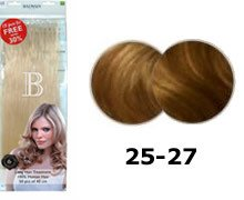 Balmain Fill-In Extensions Value Pack Natural Straight- 25/ 27, ultra light gold blond/ medium beige blond
