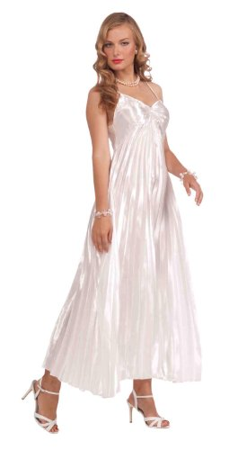arlet Silky White Adult Costume Dress One Size Fits Most (Hollywood Starlet Kostüme)