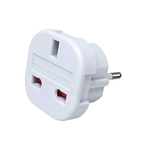 LUNANA UK zu EU Adapter Reiseadapter UK auf DE Reisestecker UK auf DE Netzadapter UK 3-Pin auf Euro 2-Pin Typ E - schwarz