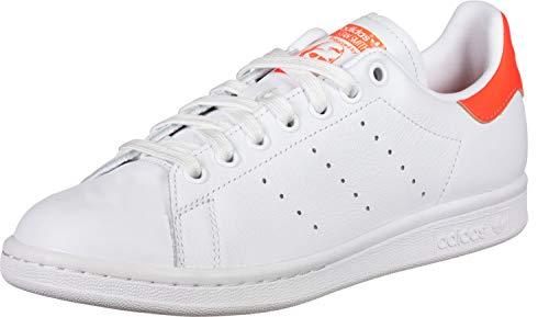0522222e68658 adidas Stan Smith W, Chaussures de Gymnastique Femme, Blanc Solar  Orange/FTWR White, 39 1/3 EU