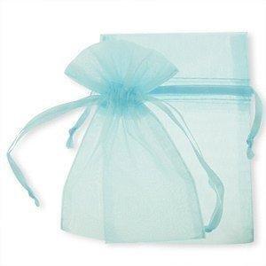 25 Pale Blue , Organza Bags , small , 9 cm x 12 cm