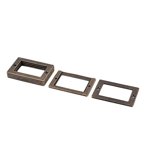 6 Stück Büro Bibliothek Datei Schublade Tag Frame Label Halter Bronze 71x49mm (Frame Schublade-datei)