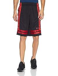 Under Armour UA Baseline 18 - Pantalón Corto para Hombre, Hombre, Color Negro/Rojo, tamaño Large