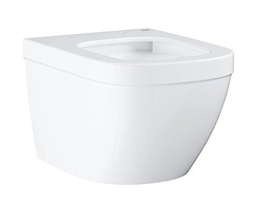 """Grohe WC (Toilette, Klo) """"Compact"""", Tiefspüler, spülrandlos – Wandhängend, Weiß, ohne Deckel mit Montageset - 39206000"""