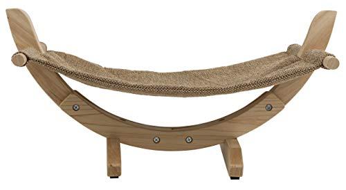 Kerbl 81559 Hängematte Siesta 2.0 mit Holzgestell, 61 x 37 x 29 cm, braun - 3