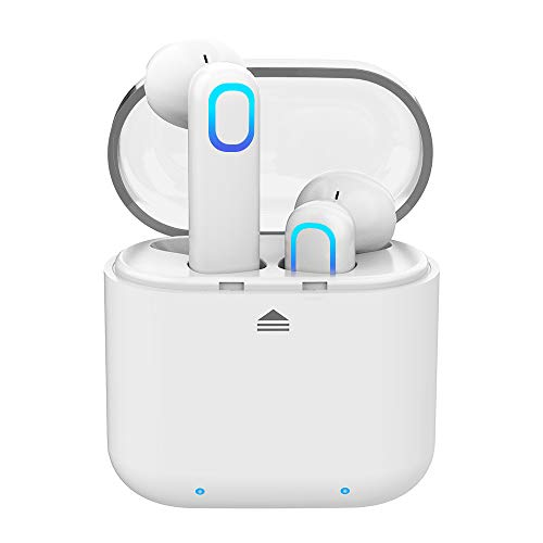 Bluetooth Kopfhörer Kabellose Ohrhörer In Ear Noise Cancelling IPX5 Wasserdicht Stereoheadset mit Mikrofon & Mini Portable Ladebox für iOS Android Samsung Huawei HTC