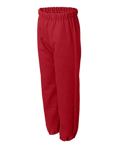 Gildan–Pantaloni di tuta modello Heavy Blend Youth Red