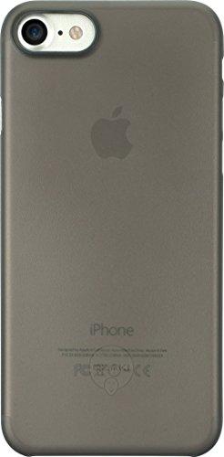 Ozaki O!Coat 0.3 Jelly Slim Schutzhülle für Apple iPhone 7 / 8 in schwarz [0.3mm dünn | 4g leicht | Extrem passgenau | Transparent] - OC735BK