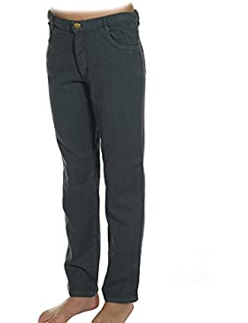 Garbantex pantalón largo pitillo de niño con tejido jacquard y cinco bolsillos