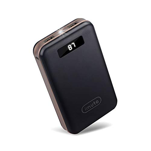 iMuto 20000mAh Compact Portable Charger Power Bank External Battery with Smart LED Digital Display Fast Charge Battery Pack for iPhone XS XR MAX 8 7 6 6S Plus, iPad, Samsung Galaxy, Smart Phones and More