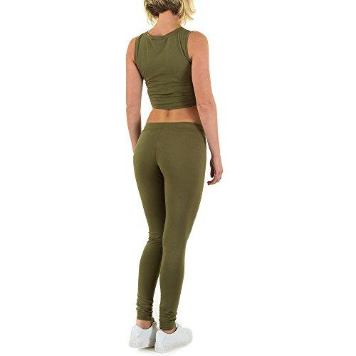 Freizeit Yoga Zweiteiler Overall Für Damen bei Ital-Design Grün