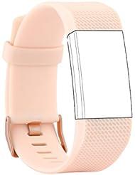 Fit-power de remplacement en silicone Band/sport Strap Band pour Fitbit Charge 2fréquence cardiaque [pas de suivi]