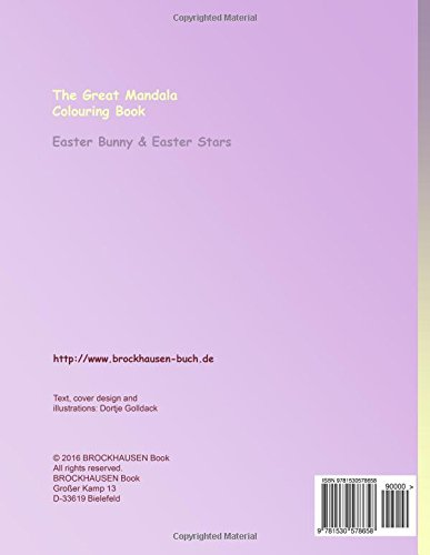 BROCKHAUSEN Colouring Book Vol. 2 - The Great Mandala Colouring Book: Easter Bunny & Easter Stars: Volume 2