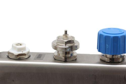 Verteiler für Fußbodenheizung, 4 Heizkreise - 5