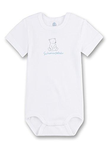 Sanetta Baby-Jungen Body 322312 Weiß (White 10), 86 (86)