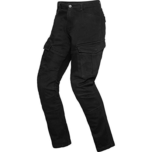 Spirit Motors Motorrad Jeans Motorradhose Motorradjeans Cargo Hose 1.0 schwarz 32/32, Herren, Chopper/Cruiser, Ganzjährig, Textil