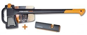 Fiskars X25 Spaltaxt + Fiskars Xsharp Axt- und Messerschärfer von FISKARS