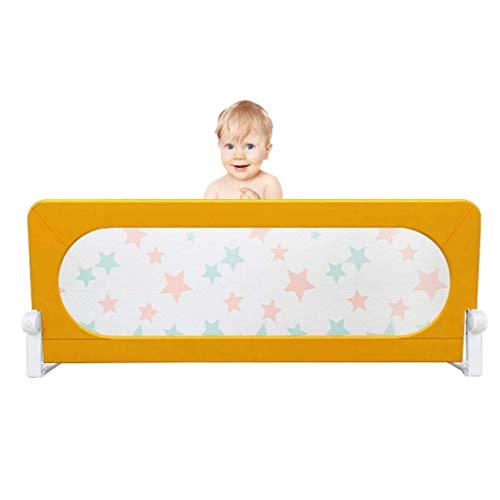QNJM Baby Bettgitter Schutzgitter, Fit Baby Sicherheit Hochbett Schutzgitter Für Kinder, Bettgitter Baby Schutzgitter (Color : Yellow, Size : 150cm)