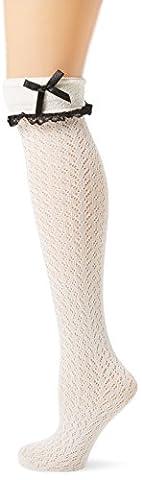 Leg Avenue Mi-Bas Crochet À Volant Blanc Taille Unique