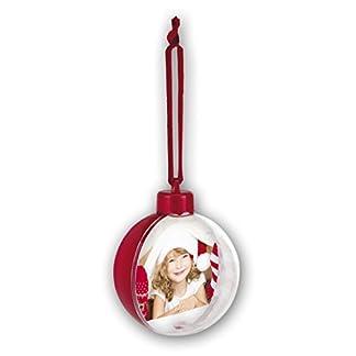 ZEP Photo Snow Flake Adorno con Foto para Árbol de Navidad, Plástico