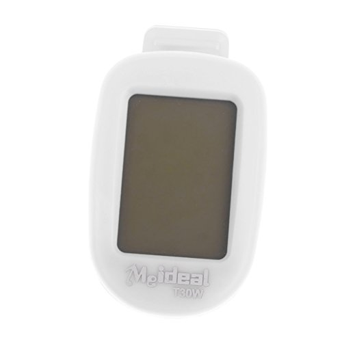Generic Clip on LCD Digital Chromatic Electric Guitar Tuner Bass Ukulele Banjo Violin White  available at amazon for Rs.345
