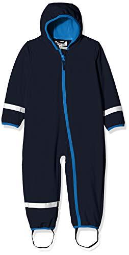 Playshoes Unisex Baby Schneeanzug Softshell-Overall Fleece gefüttert, Blau -