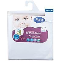 P'tit Lit - Protège-matelas bébé Eponge 100% Coton 60 x 120 cm  - Imperméable Respirant Silencieux - Absorbant - Anti-acariens - Doux
