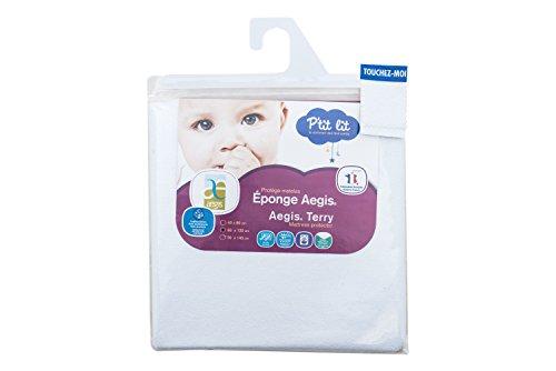 P'tit Lit - Protège-matelas bébé Eponge 100% Coton 60 x 120 cm  - Imperméable Respirant...