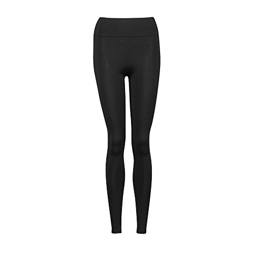 Fami Chaussures de sport YOGA Workout Gym Pantalons de sport Leggings High Waist Fitness Stretch Trousers (Noir)